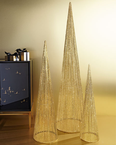 large wire christmas trees 3 piece set. Black Bedroom Furniture Sets. Home Design Ideas