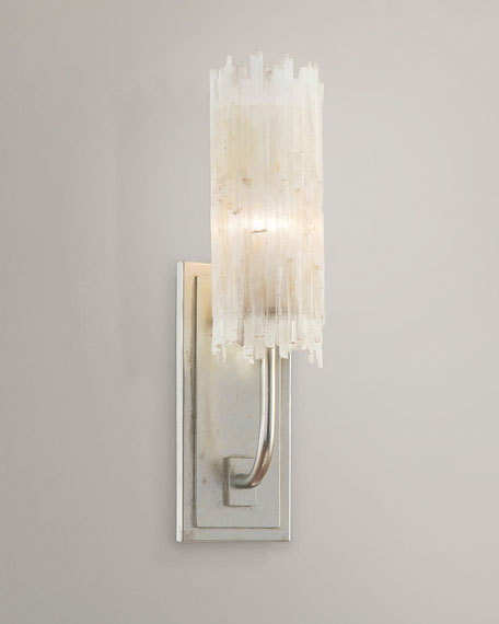 Klaffs Wall Sconces : John-Richard Collection Selenite Single Wall Sconce