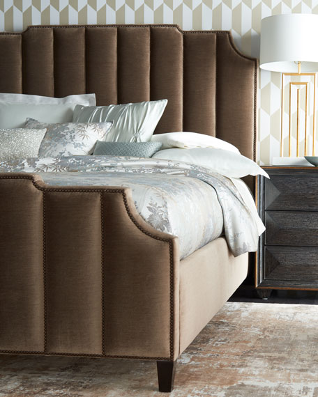 Bernhardt Bree Channel-Tufted Queen Bed