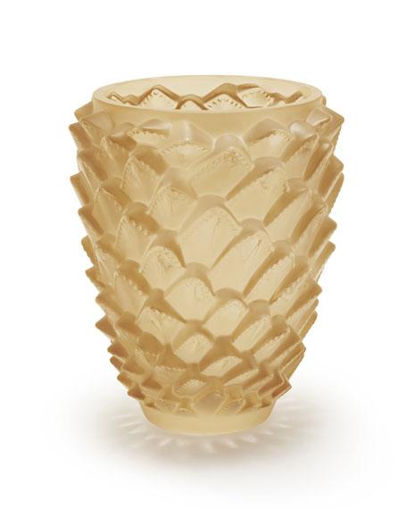Lalique Gold Agave Vase