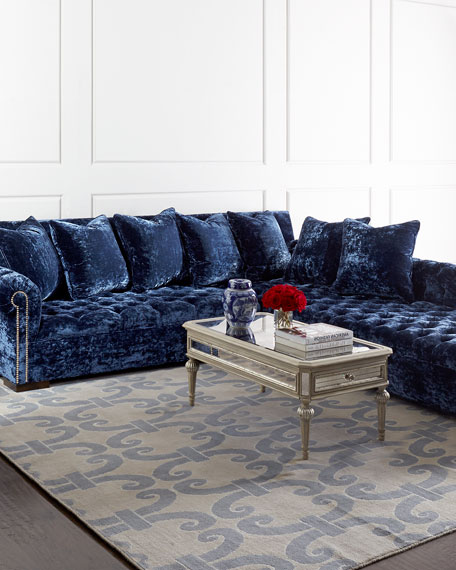 Haute House Divine Crushed Velvet Right Chaise Sectional