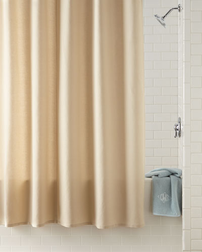 Bon Waterworks Studio Linen/Cotton Shower Curtain