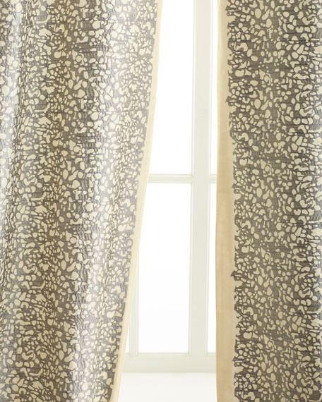"Each 50""W x 108""L Shimmer Stone Curtain"