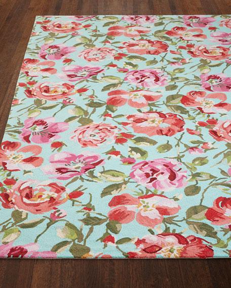 Rose Parade Rug, 5' x 8'