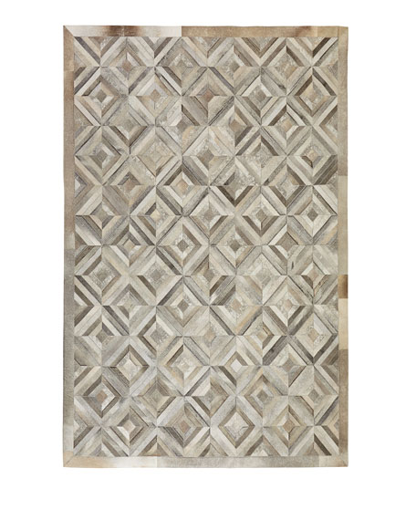 "Exquisite Rugs Whisper Hairhide Rug, 9'6"" x 13'6"""