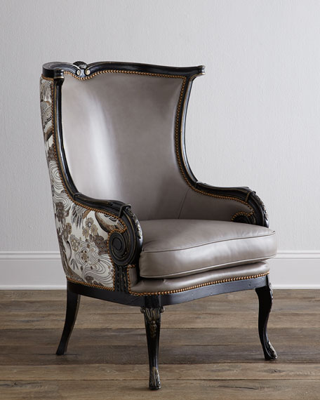 Massoud Celeste Wing Chair