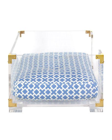Jonathan Adler Lucite Amp Brass Dog Bed