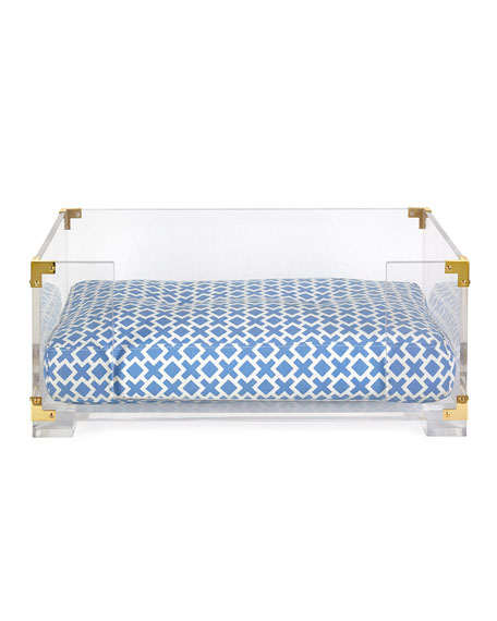 Jonathan Adler Lucite & Brass Dog Bed