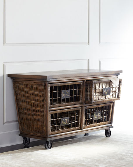 Michel Rattan Rolling Chest