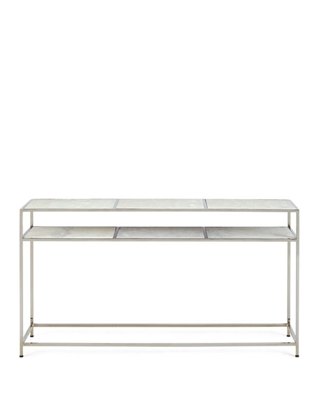 Cici Etched Marble Console