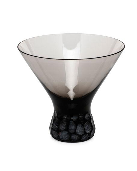 Moser Smoke Pebbles Stemless Martini
