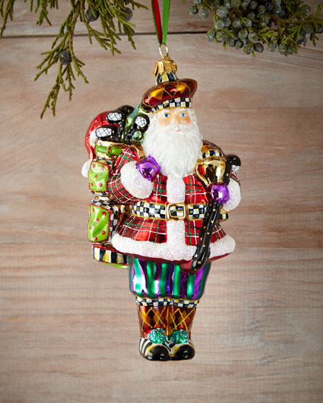 MacKenzie-Childs Hole-In-One Santa Christmas Ornament
