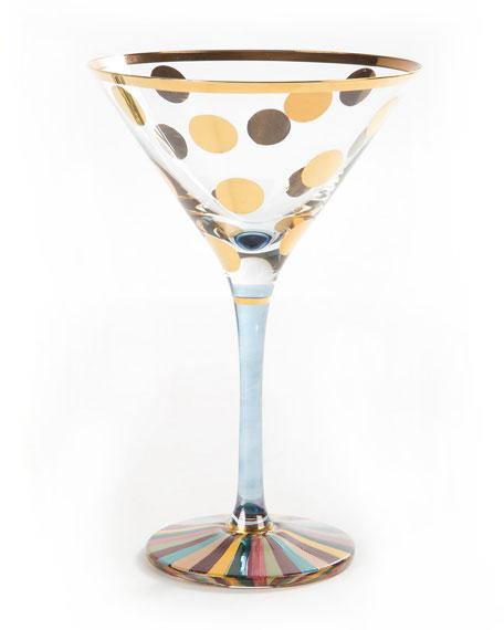 MacKenzie-Childs Foxtrot Martini Glass