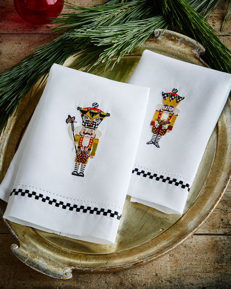 MacKenzie-Childs Nutcracker Guest Towels, 2-Piece Set