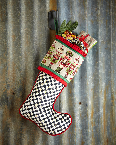 MacKenzie-Childs Santa's Workshop Christmas Stocking
