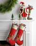 Image 2 of 3: Jeweled Deer Christmas Stocking
