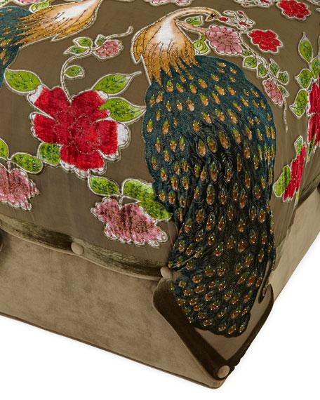 Peacock Cube Ottoman