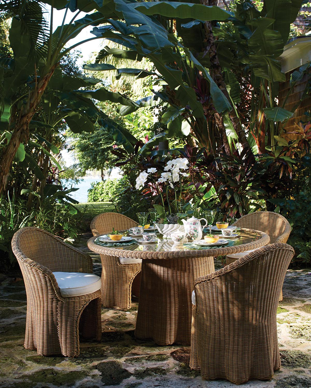 Hemingway outdoor florentine rectangular dining table neiman marcus