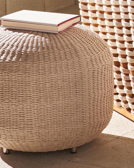 Palecek San Martin Outdoor Lounge Chair & Pouf