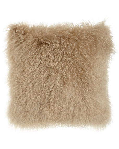 Camel Tibetan Lamb Pillow