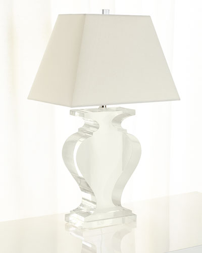 Lucite Silhouette Table Lamp