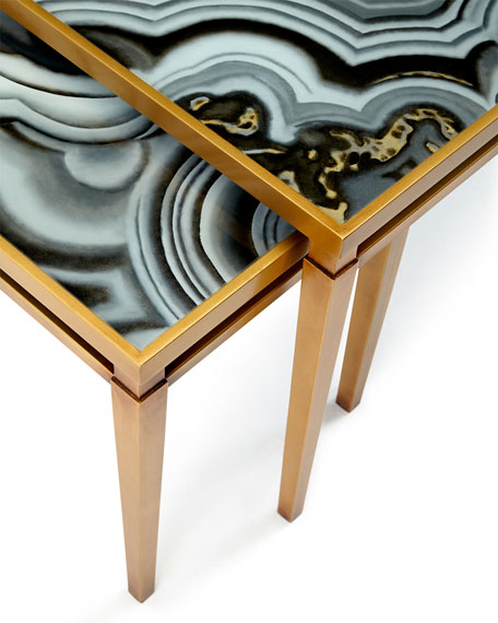 Charming Nicola Painted Agate Coffee Table