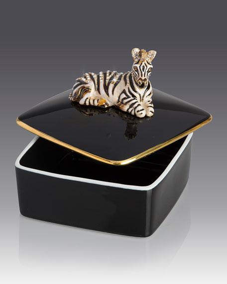 Zebra Porcelain Box