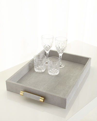 Classic Dove Shagreen Serving Tray