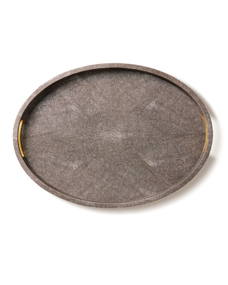 AERIN Modern Chocolate Shagreen Tray