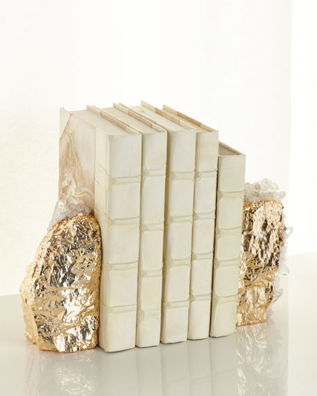 AERIN Gilded Crystal Bookends