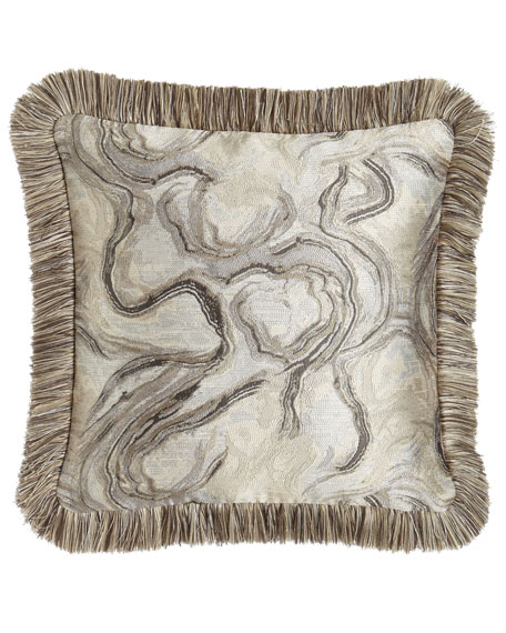 "Dian Austin Couture Home Driftwood Reversible Pillow, 18""Sq."