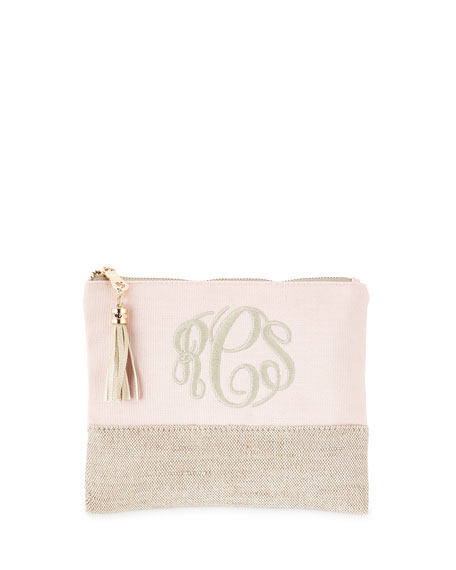 Pink Small Linen Pouch