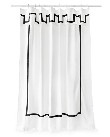 Jonathan Adler Santorini Black and White Shower Curtain