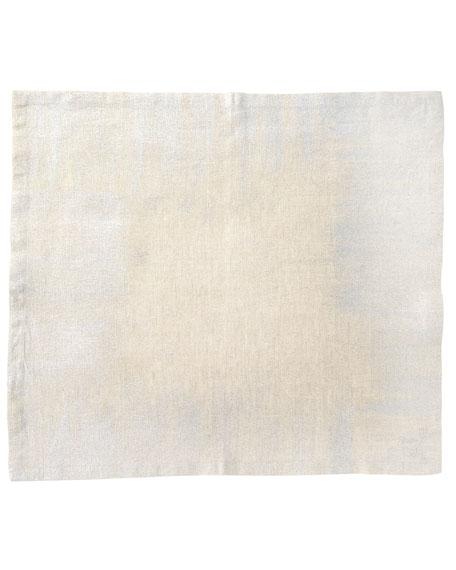 Kim Seybert Glitter Edge Napkin, Natural/Silver