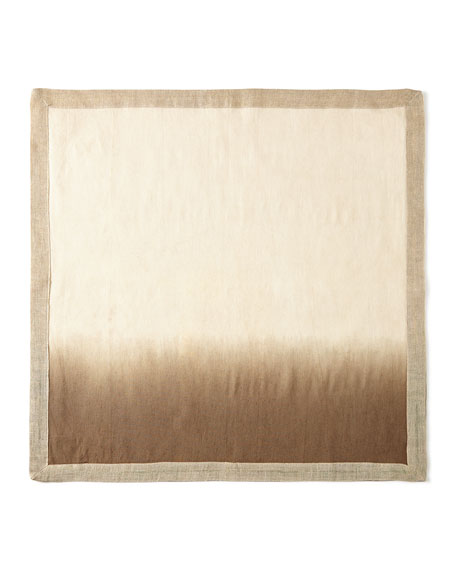 Kim Seybert Dynasty Placemat, Natural/Brown Dip-Dye Napkin, &