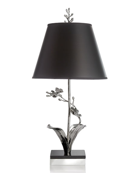 White Orchid Table Lamp