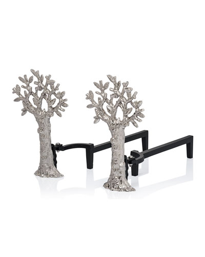 Tree of Life Andirons
