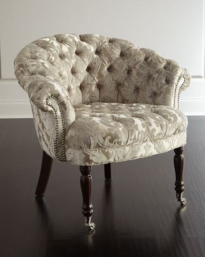 Taupe Sausalito Tufted Chair