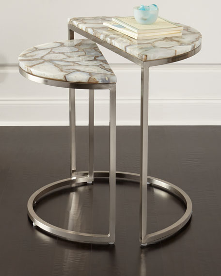 Bellaire Stone Nesting Tables