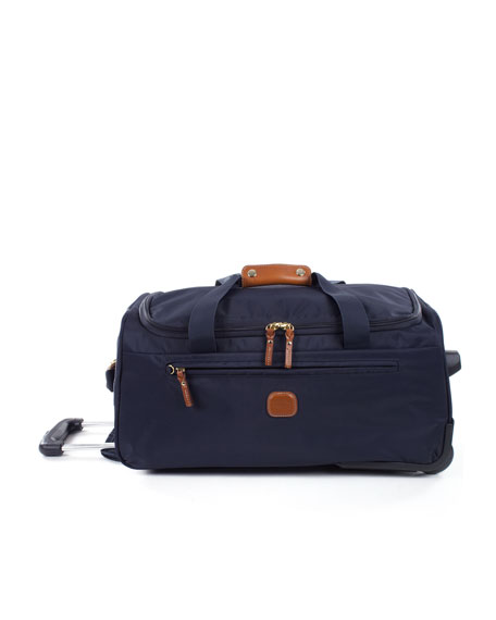 """Bric's Navy X-Bag 21"""" Carry-On Rolling Duffel Luggage"""