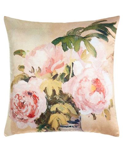 Pissarro Peonies Pillow