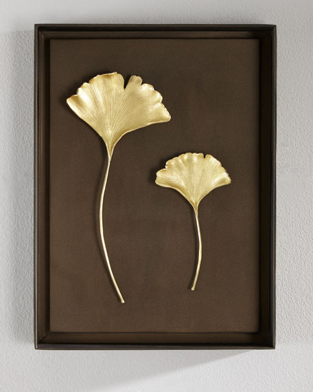 Michael aram gingko leaf wall art neiman marcus for Leaf wall decor