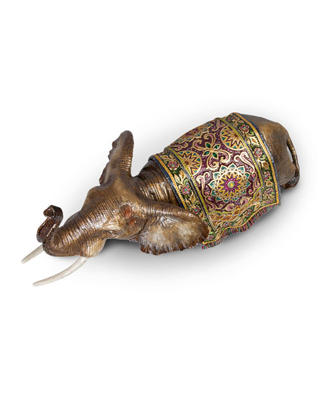 Image 3 of 3: Tapestry Large Elephant Figurine