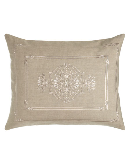Lili Alessandra Standard Casablanca Sham with Center Motif