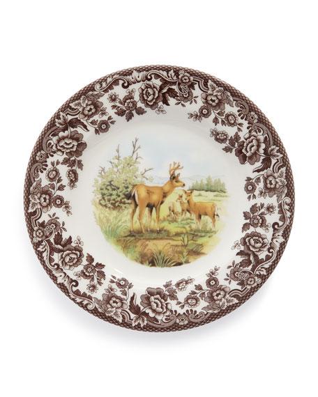 Spode Woodland Deer Salad Plates, Set of 4