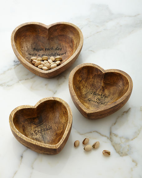 G G Collection Gratitude Bowls, 3-Piece Set
