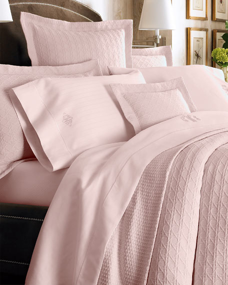 California King Marcus Collection 400 Thread-Count Dotted Sheet Set