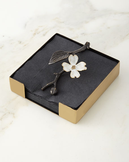 Michael Aram Dogwood Cocktail Napkin Holder