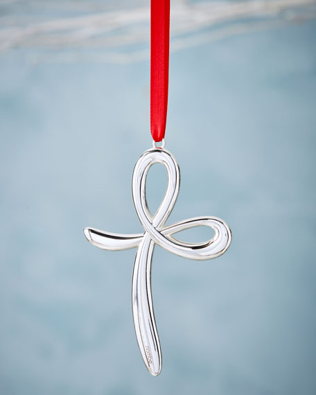 Nambe Cross Christmas Ornament