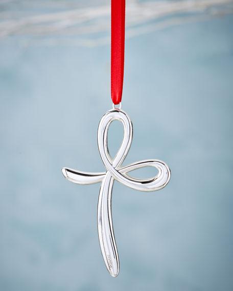 Nambe Cross Christmas Ornament